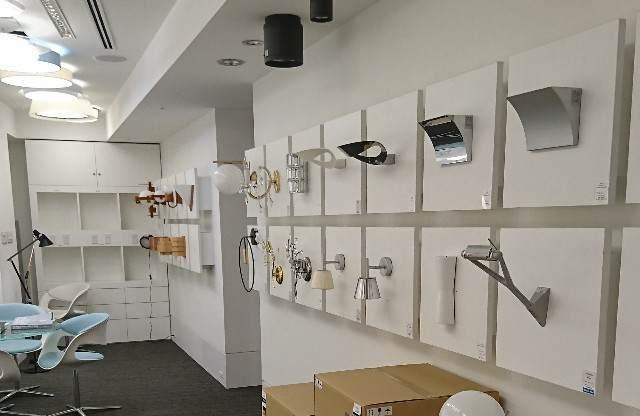 yamagiwa(ヤマギワ) ショールーム 壁付け照明