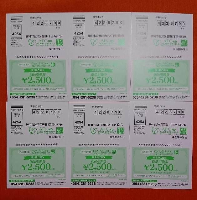 株主優待 AFC 2,500円券