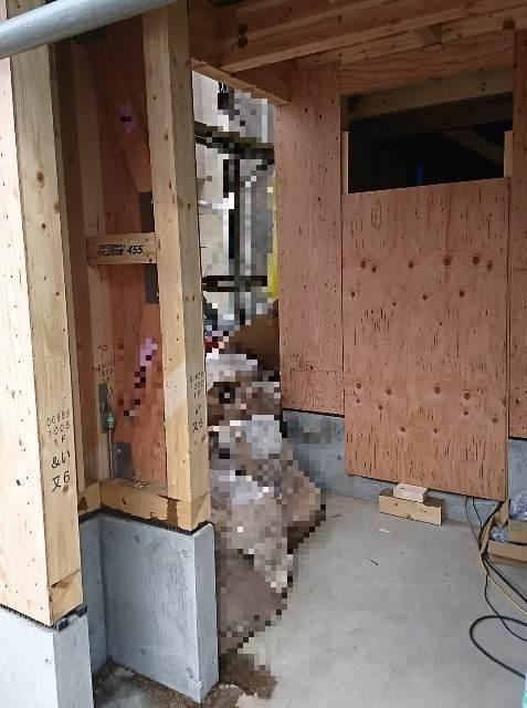 構造合板の施工