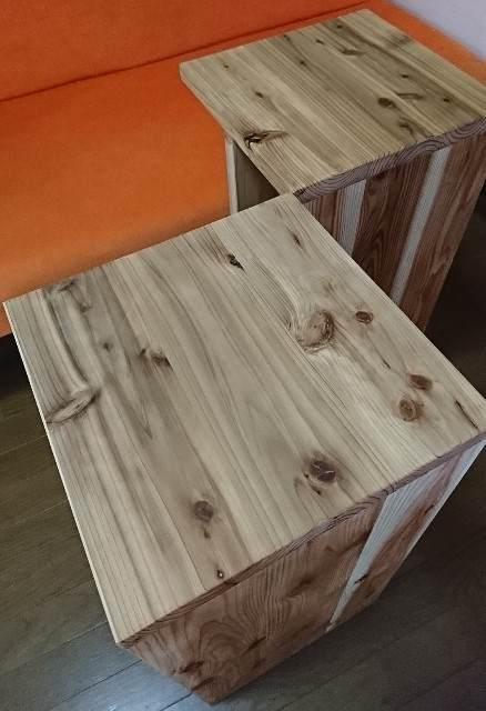 DIY サイドテーブル オスモ・撥水セラミック