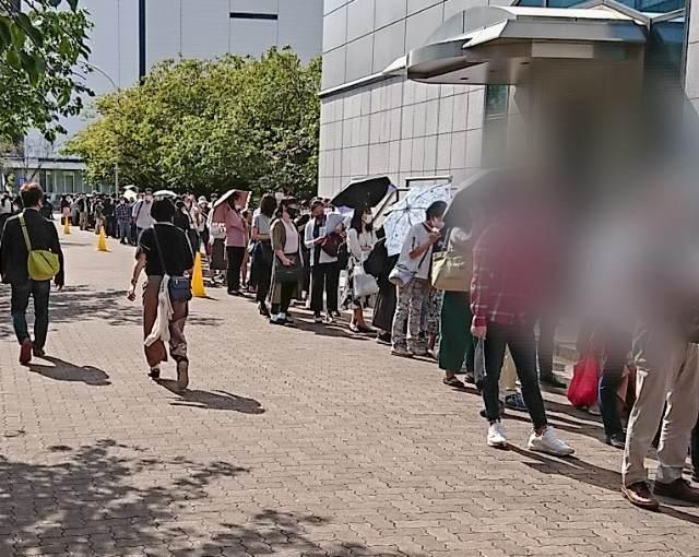 三陽商会 株主優待セール 2020年 入場待ち2