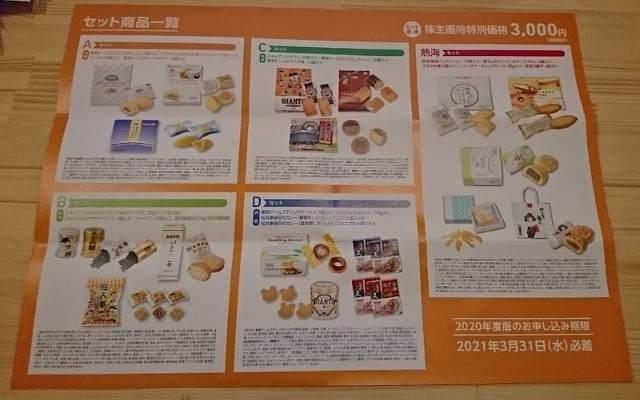 東京ドーム 株主優待カタログ 2020年