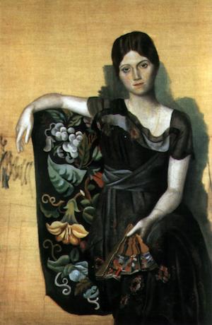 『肘掛け椅子に座るオルガの肖像』パブロ・ピカソ