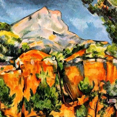 『石切場から望むヴィクトワール山』ポール・セザンヌ