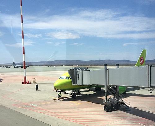 ウラジオストク国際空港から成田空港へ!