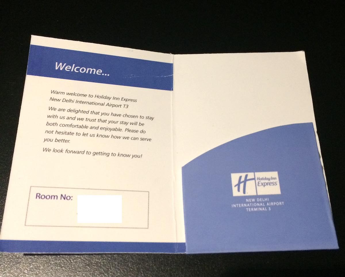 インド デリー空港内にあるホテル「Holiday Inn Express New Delhi Int'l Airport T3」カードキー