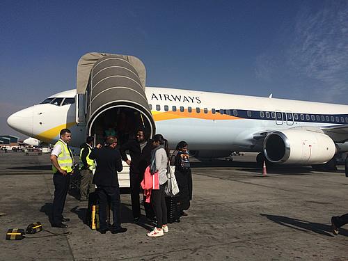 インド デリーからインドの航空会社 Jet Airwaysでネパール カトマンズ空港へ!