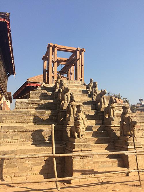 ネパールの古都 バクタプルは復興途中 @ カトマンズ