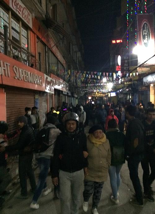 カトマンズ・タメル地区での年越しCountDown!@ カトマンズ ネパー