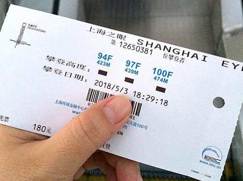 上海ワールド・フィナンシャル・センターの展望台に上がってみた