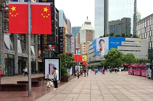 上海 南京路步行街の朝は早い!