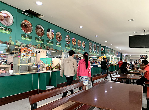 ショッピングモール「タラートサオ」のフードコートで激辛ラオス料理! @ ヴィエンチャン
