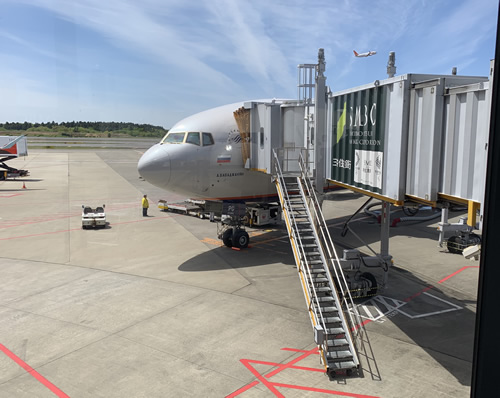 快晴の成田空港から初エアロフロート