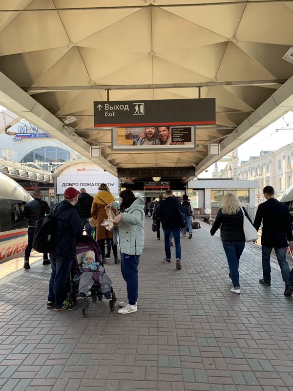 「サプサン号」の終点 レニングラード駅 @ モスクワ