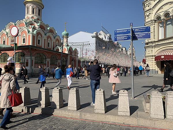 メーデー前日の赤の広場 @ モスクワ