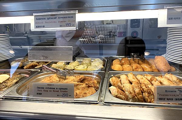 写真:グム百貨店のスタローヴァヤNo.57の料理