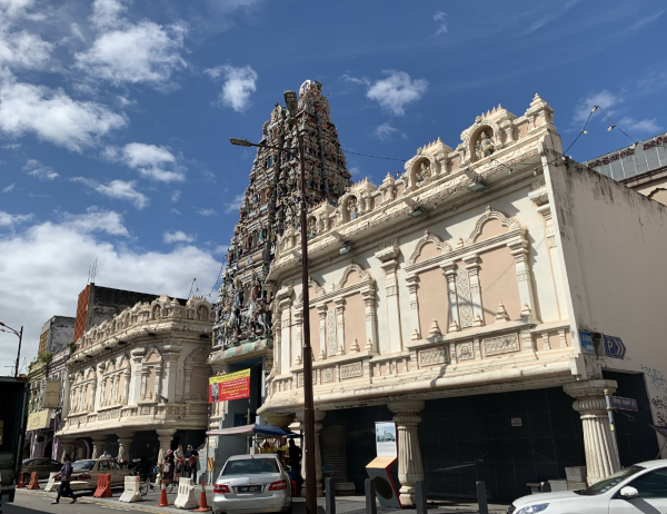 チャイナタウンのヒンドゥー教寺院「スリ マハマリアマン寺院」@ クアラルンプール