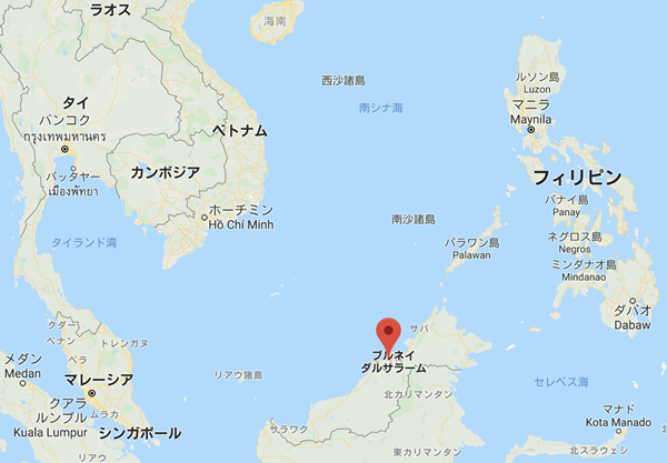 ブルネイの地図