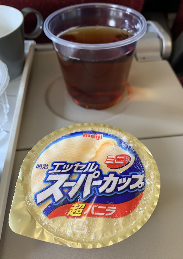 マレーシア航空・クアラルンプール便機内食 デザート
