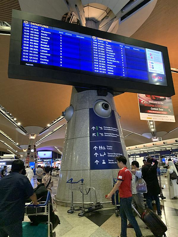 朝のクアラルンプール国際空港
