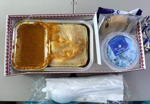 マレーシア航空でブルネイへ/機内食