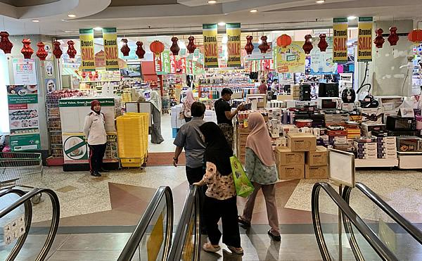 The Mall 地下のスーパーマーケット入り口 @ ブルネイ