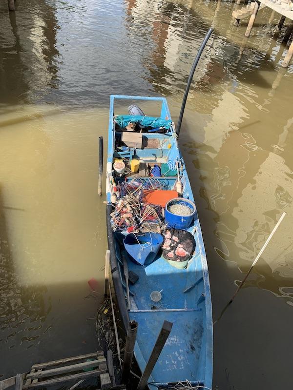 水上集落カンポン・アイールの建物 @ ブルネイ