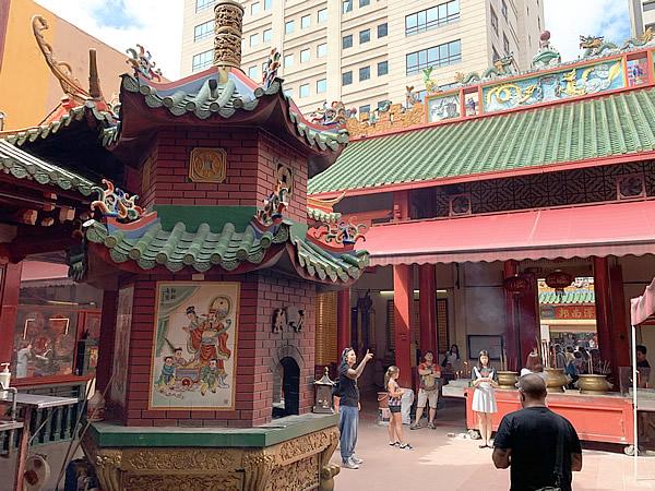 マレーシア チャイナタウンの関帝廟 @ クアラルンプール