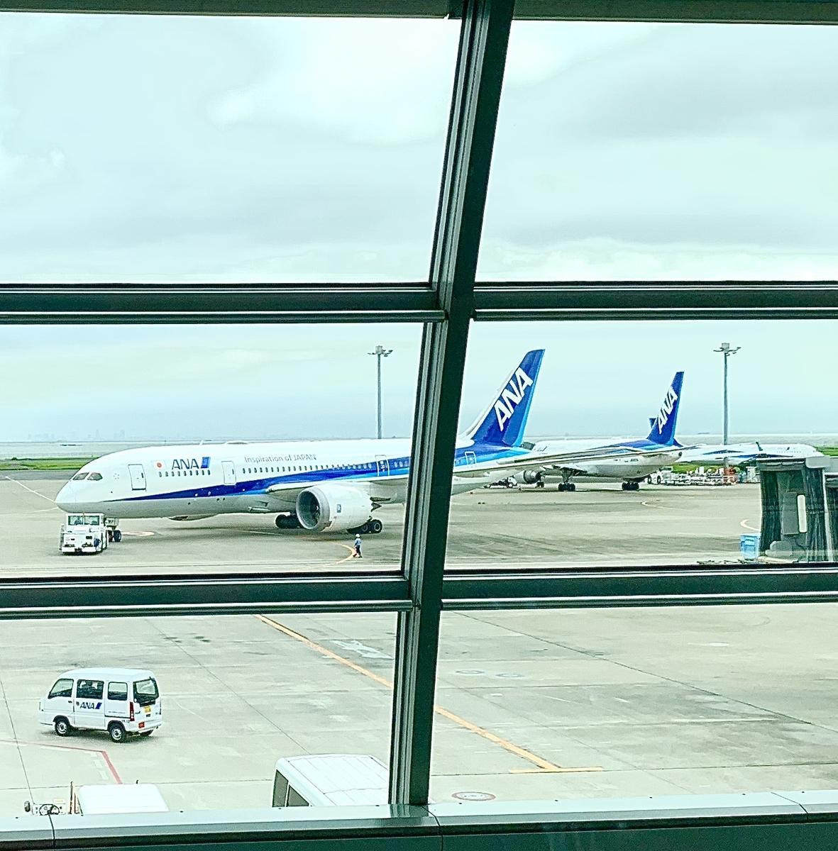 羽田から函館に向けて ANA 全日空機にて
