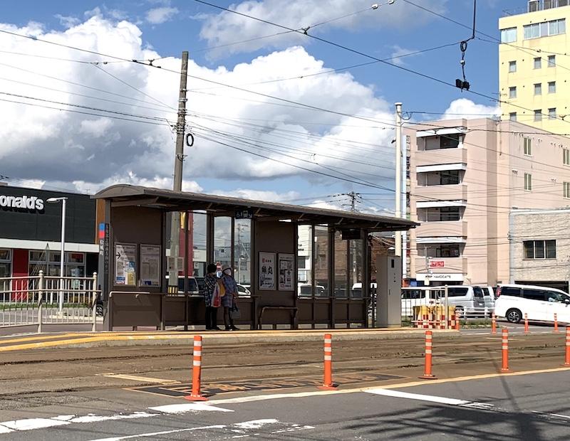 路面電車の駅「松風町」
