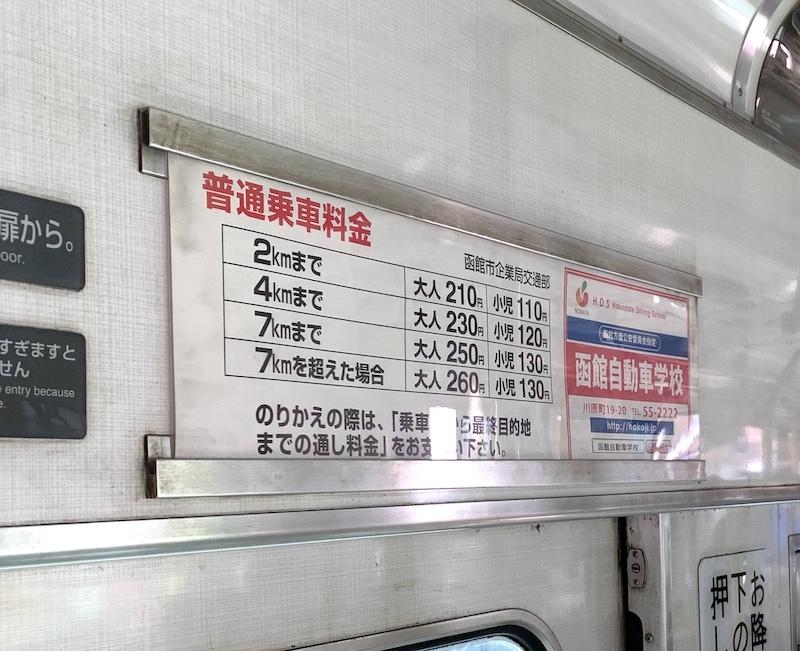函館路面電車 料金