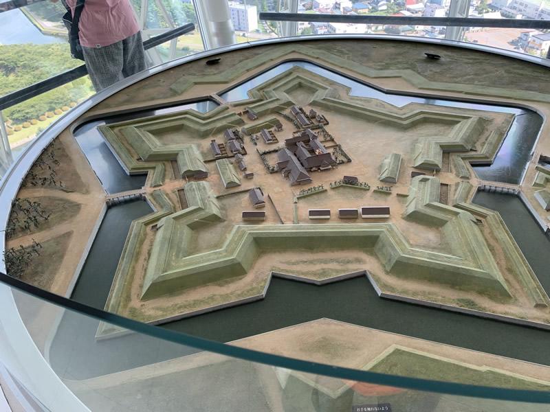 五稜郭タワーにある五稜郭の模型