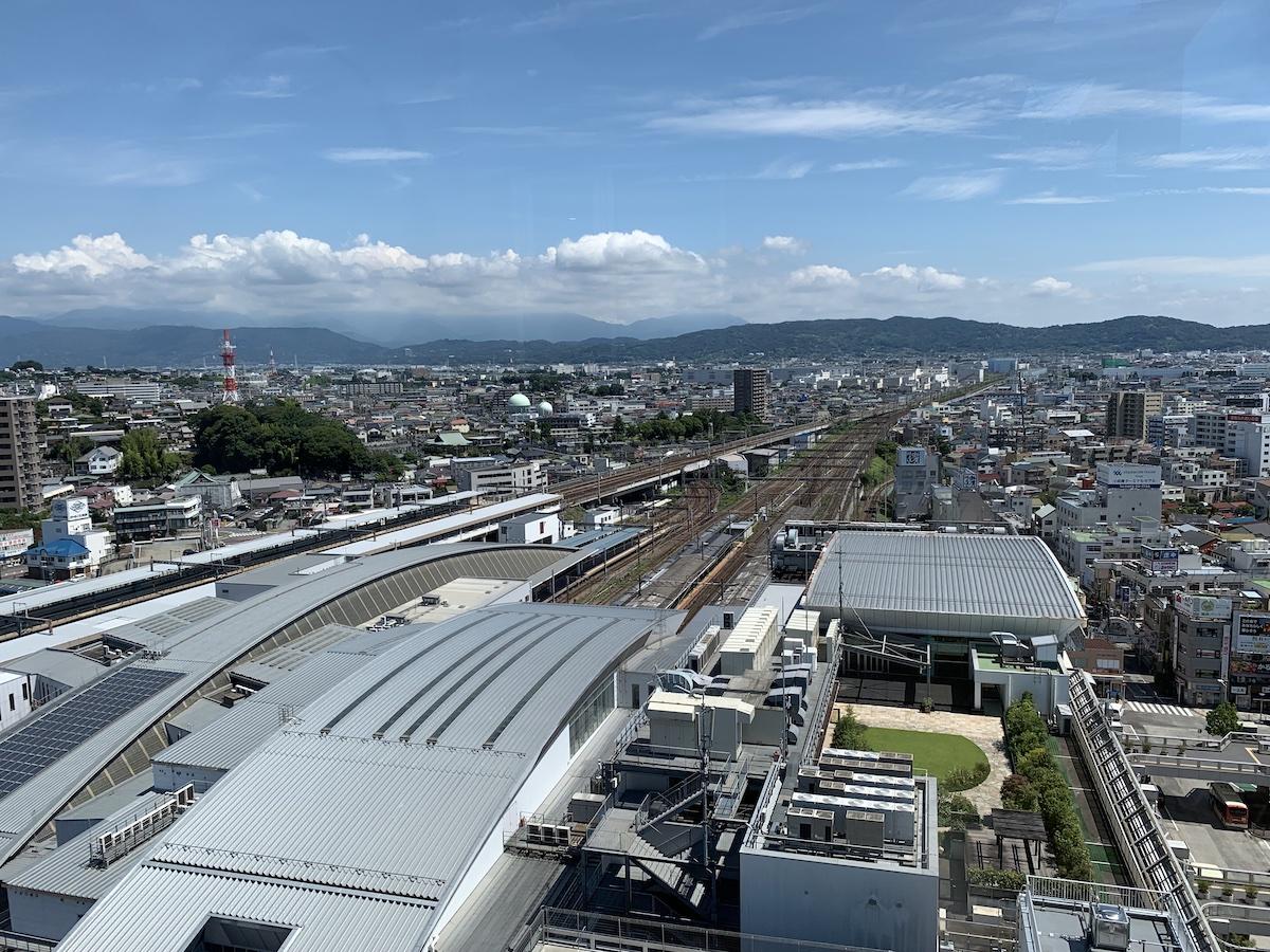 ミナカ小田原 展望フロアからの眺め