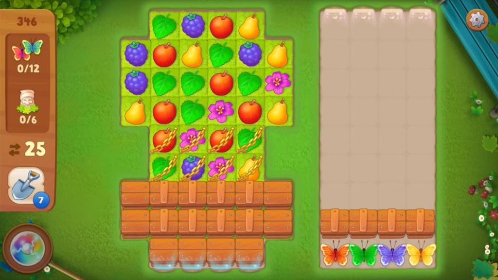 Gardenscapes_level346初期配置画面