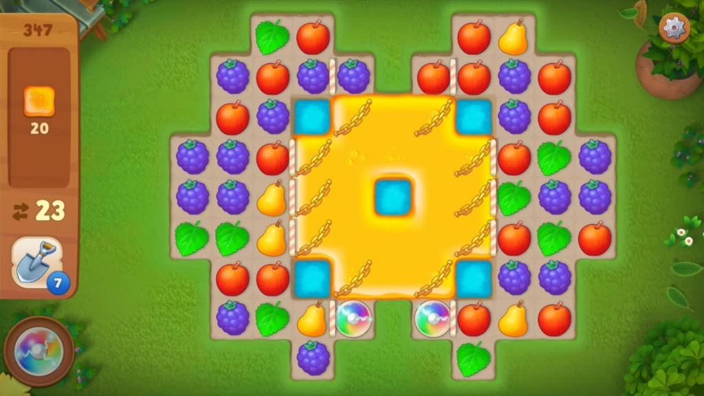 Gardenscapes_level347初期配置画面