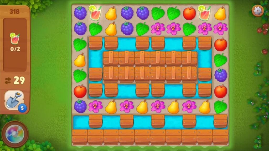 Gardenscapes_level318初期配置画面