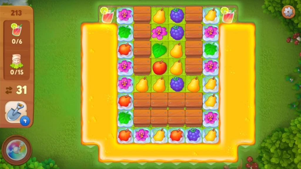 Gardenscapes_level213初期配置画面