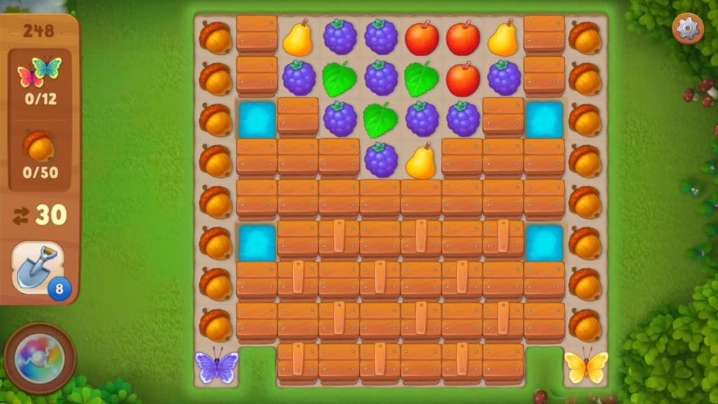Gardenscapes_level248初期配置画面