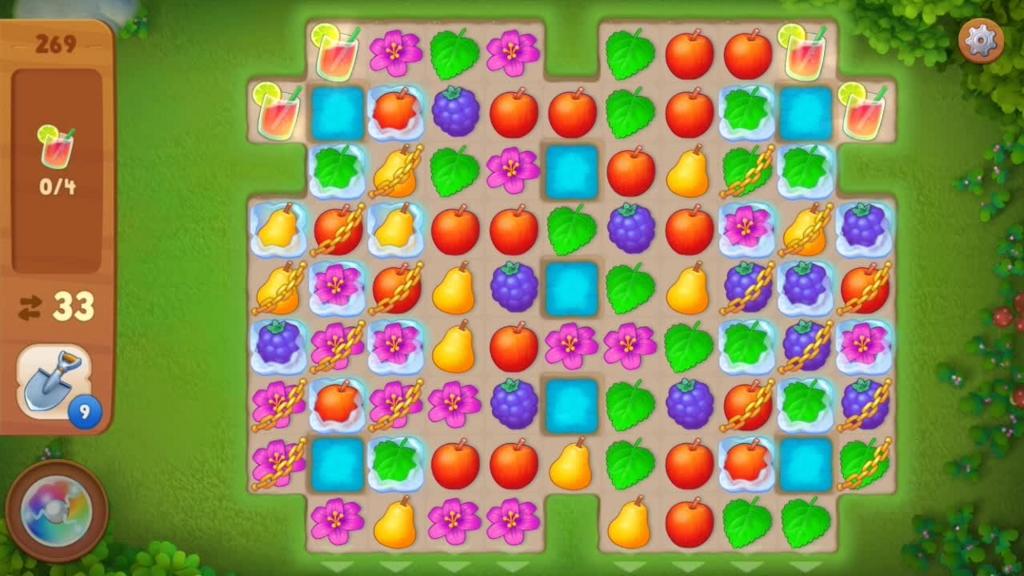 Gardenscapes_level269初期配置画面