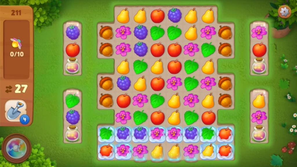 Gardenscapes_level211初期配置画面