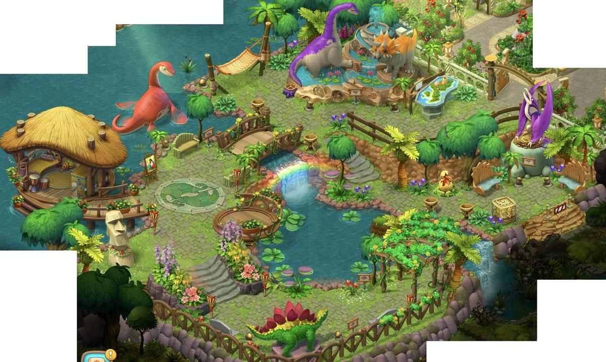 ガーデンスケイプエリア12恐竜公園完成!