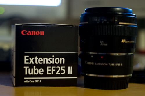 Extension Tube EF25 II とそれをつけた 50mm f/1.4 USM
