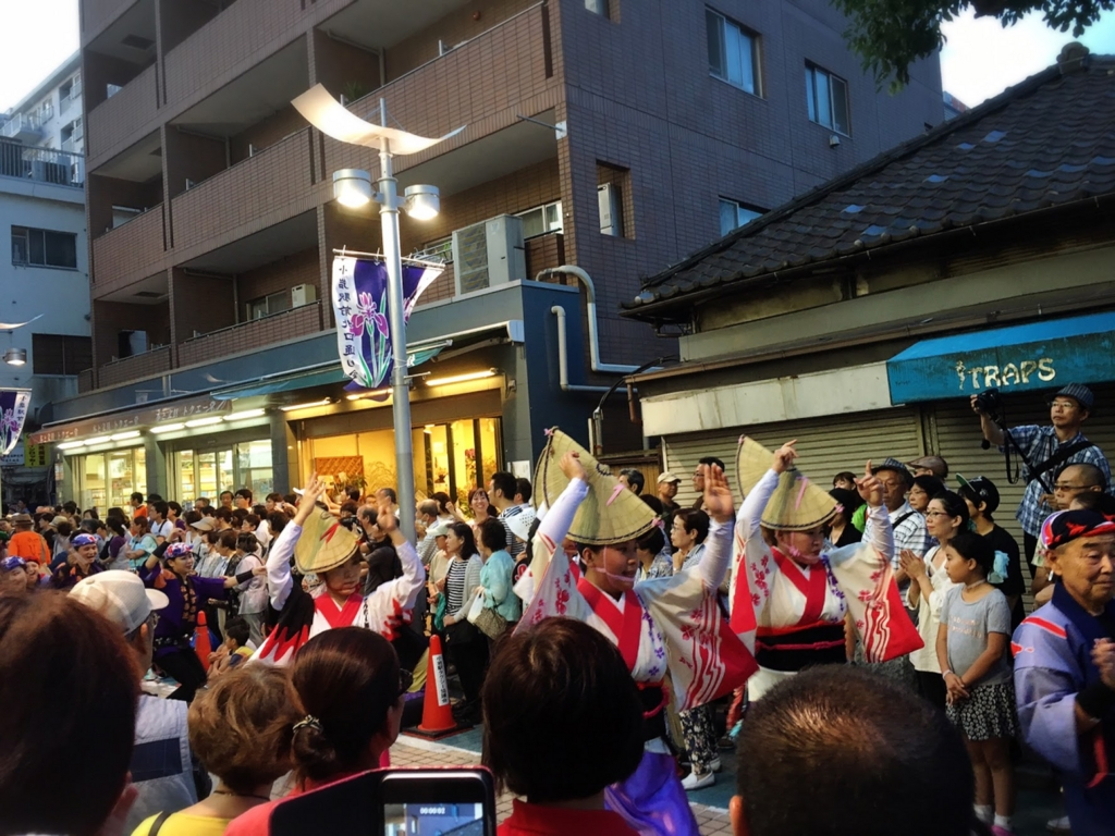 JR総武線・小岩駅北口で開催していた小岩阿波おどり