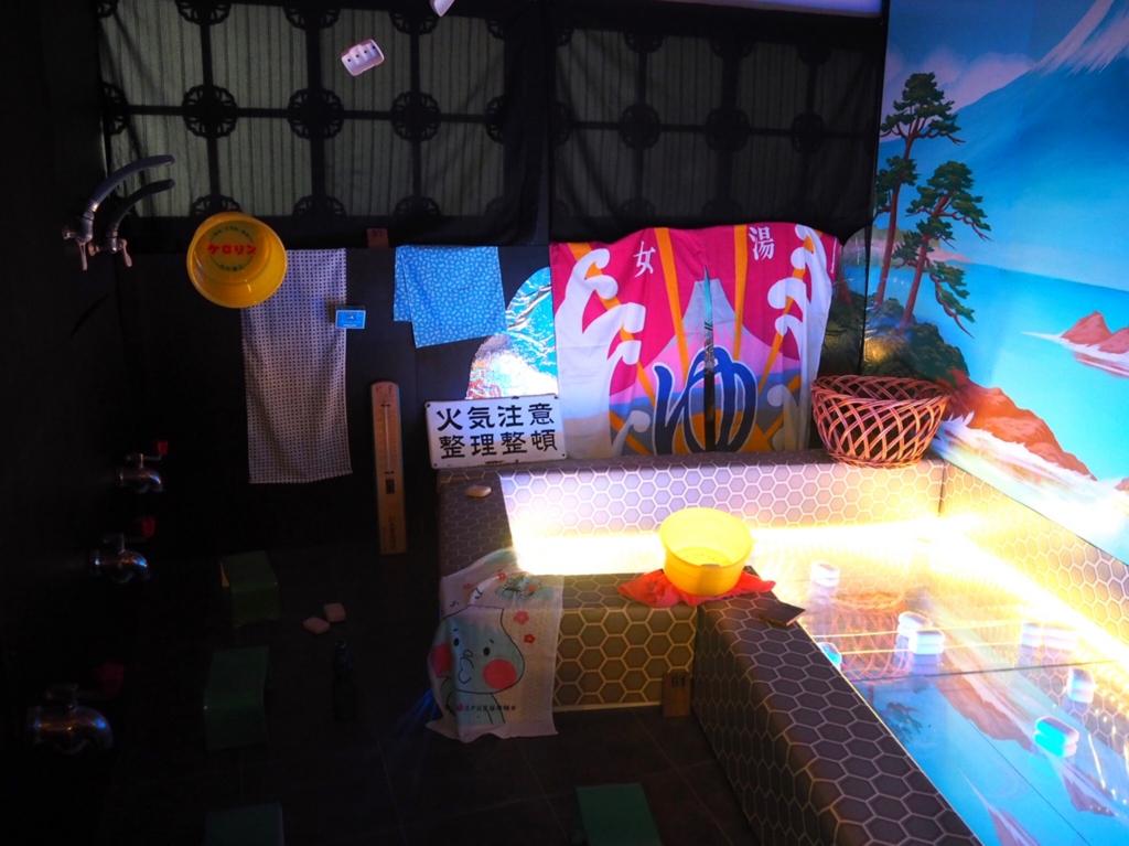 田中みずきさんの展示「銭湯絵 目黒の湯」