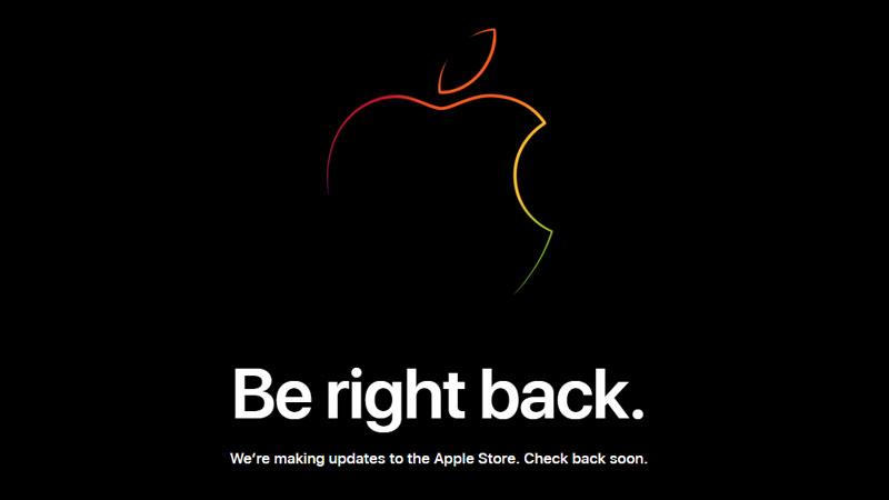 AppleStoreがメンテナンスモードに