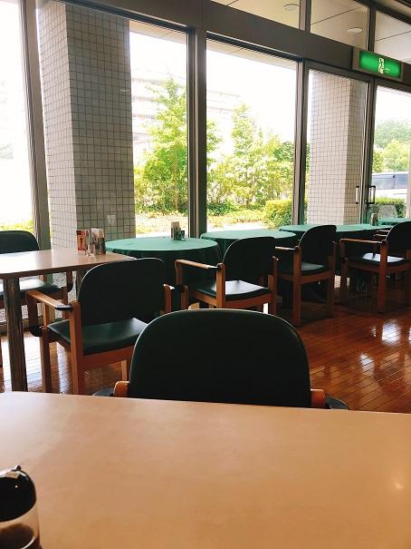 レストラン「ヨコハマ」から見える外の様子