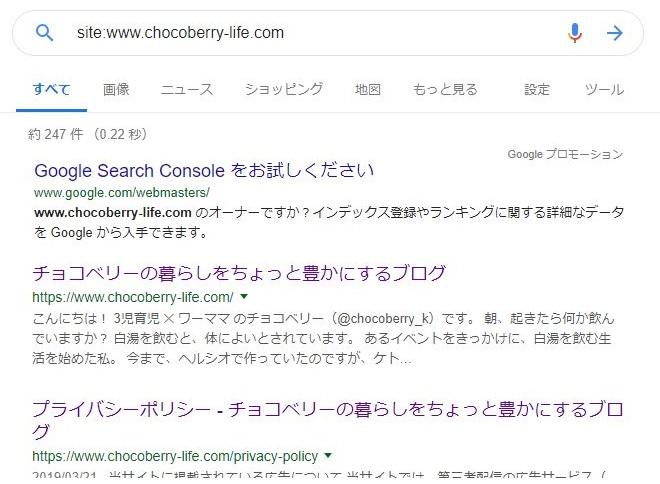 Googleにブログ記事がインデックスされているか確認した結果