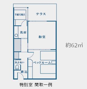 ホテル三日月の富士見亭の間取り