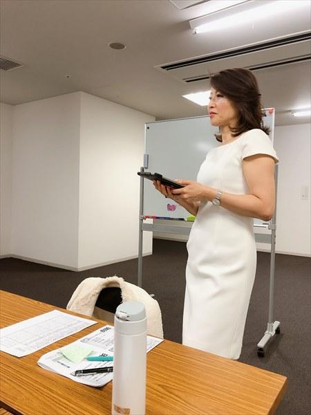 セミナーをされる野田千穂さん