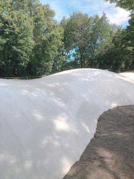 みかも山公園のわんぱく公園にある大きなトランポリン